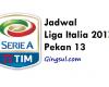 Update Jadwal Liga Italia 2017 Pekan ke 13