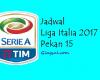 Update Jadwal Liga Italia 2017 Pekan ke 15