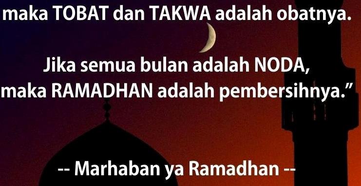 Caption DP BBM Kata Bijak Mutiara Bulan Ramadhan