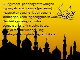 Kata Ucapan Maaf, Selamat Idul Fitri Dalam Bahasa Jawa Lebaran 2