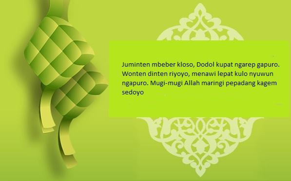 Kata Ucapan Maaf, Selamat Idul Fitri Dalam Bahasa Jawa Lebaran 4
